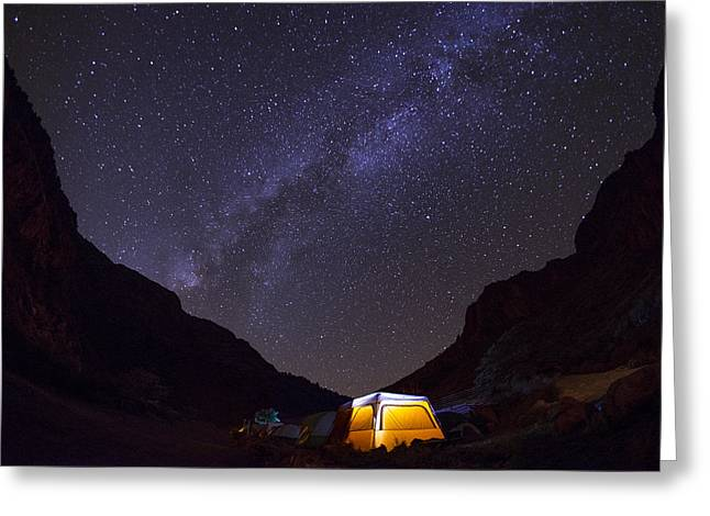 Canopy Of Stars Greeting Card by Aaron S Bedell