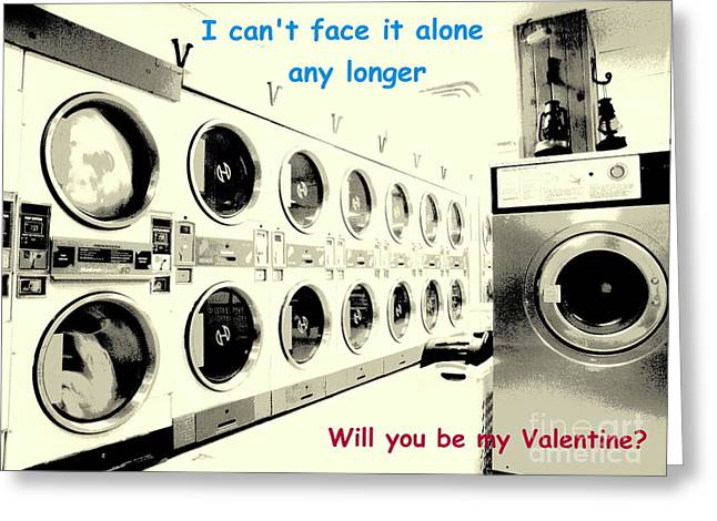 Slave Labor Greeting Cards - Cant Face It Alone Valentine Greeting Card by Joe Jake Pratt