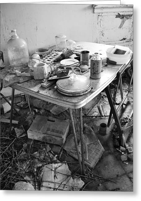 Abandoned Houses Greeting Cards - Cant Find Keys Greeting Card by Jerry Cordeiro