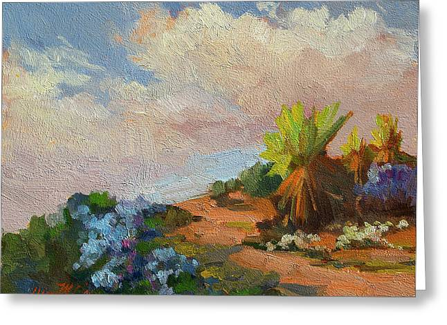 National Paintings Greeting Cards - Canterbury Bells Joshua Tree Greeting Card by Diane McClary