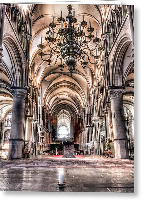 Dome Greeting Cards - Canterbury Cathedral - interior 8 Greeting Card by Ian Hufton