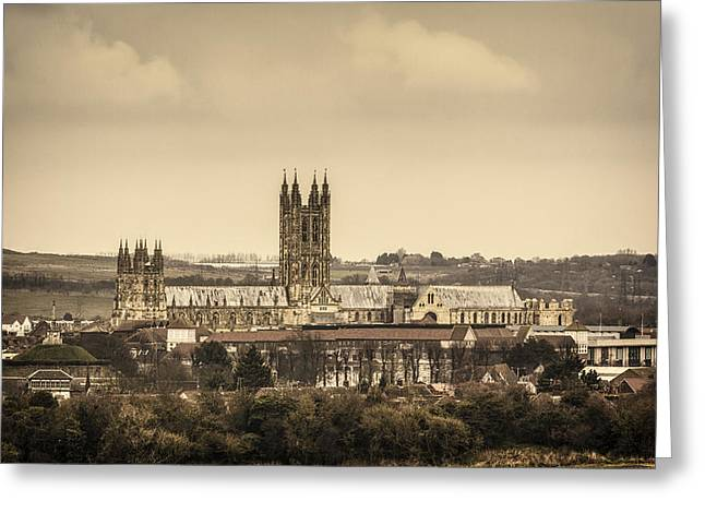 Public Garden Greeting Cards - Canterbury cathedral Greeting Card by Ian Hufton