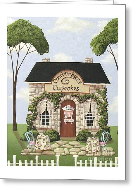 Catherine Holman Greeting Cards - Canterbury Cupcakes Greeting Card by Catherine Holman