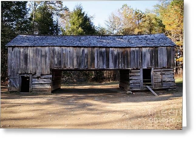 Cantilever Barn Greeting Cards - Cantilever Barn Greeting Card by Lynn Sprowl