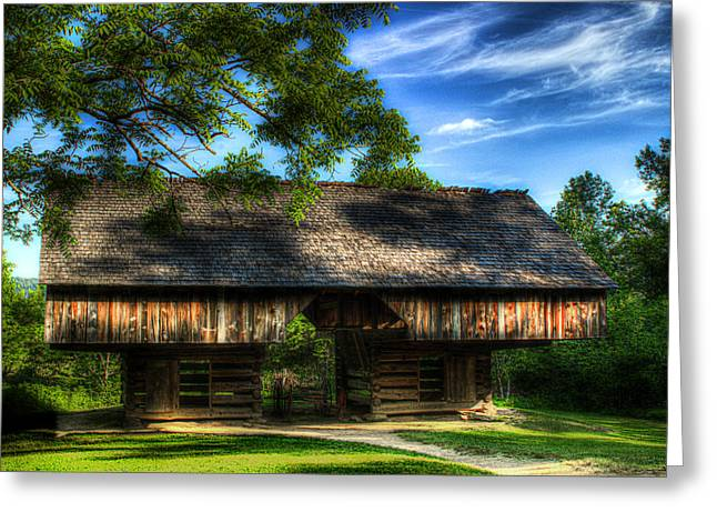 Cantilever Barn Greeting Cards - Cantilever Barn Greeting Card by Michael Eingle