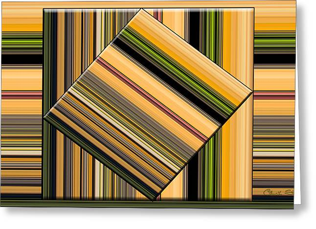 Cantina Greeting Cards - Cantina Abstract Greeting Card by Chuck Staley