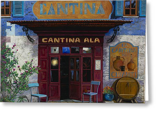 Chianti Paintings Greeting Cards - cantina Ala Greeting Card by Guido Borelli