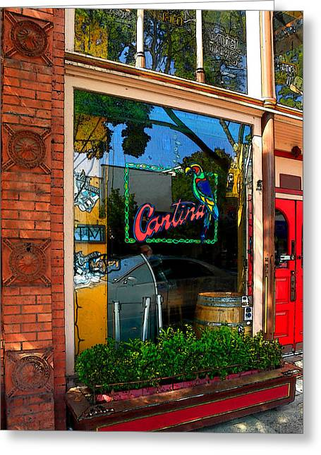 Napa Valley Digital Greeting Cards - Cantina Greeting Card by James Eddy