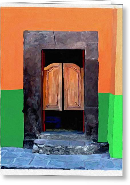 Bar San Miguel Greeting Cards - Cantina No Name 2 Greeting Card by Britt Cagle