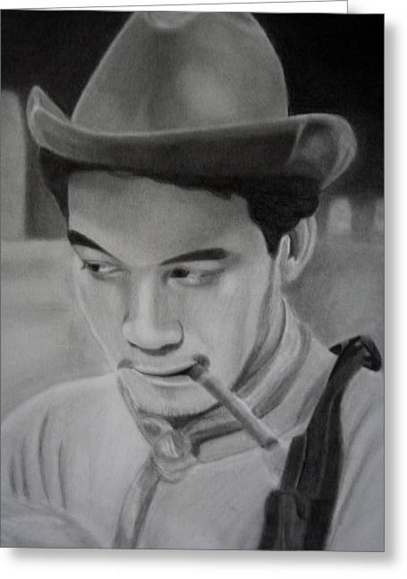 Mexicano Drawings Greeting Cards - Cantinflas Greeting Card by Enrique Garcia