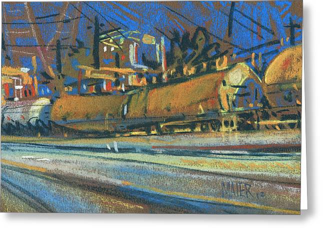 Urban Pastels Greeting Cards - Canton Tracks Greeting Card by Donald Maier