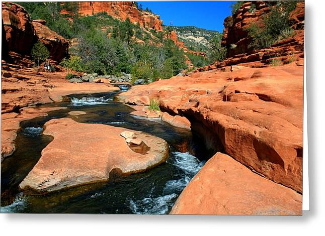 Recently Sold -  - Oak Creek Greeting Cards - Canyon Company Greeting Card by Miles Stites