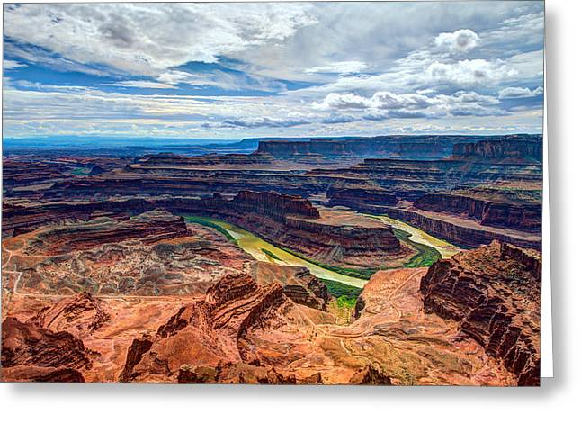 River. Clouds Greeting Cards - Canyon Country Greeting Card by Chad Dutson