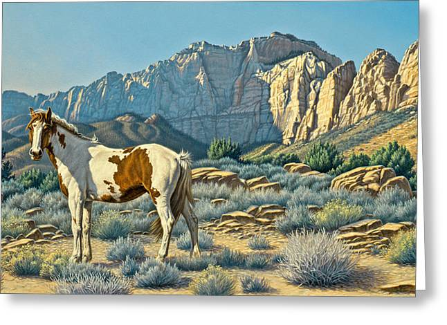 Canyon Country Greeting Cards - Canyon Country Paints Greeting Card by Paul Krapf