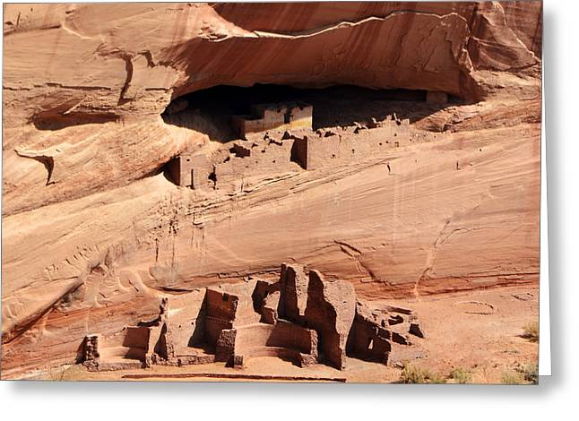 Caves Greeting Cards - Canyon de Chelly Anasazi White House Ruin Arizona Square Format Greeting Card by Shawn O