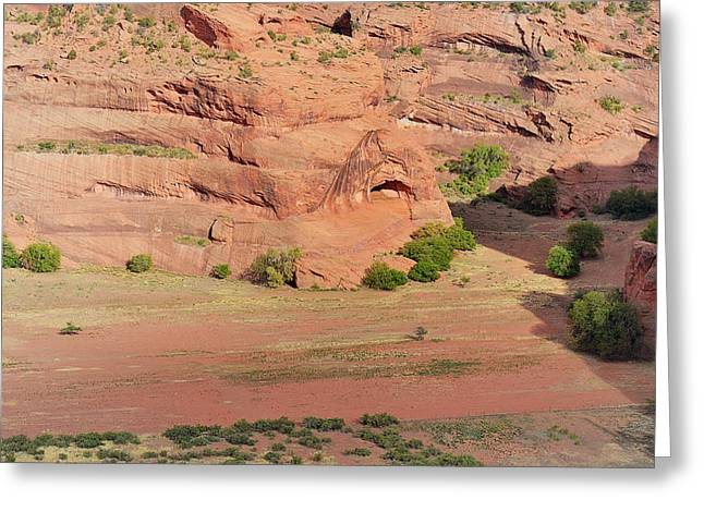Overlook Greeting Cards - Canyon De Chelly from White House Ruins Trail Greeting Card by Christine Till