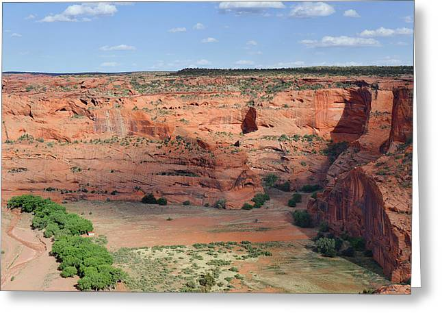 South Rim Greeting Cards - Canyon De Chelly near White House Ruins Greeting Card by Christine Till