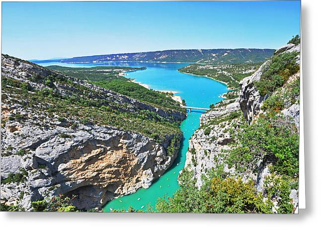 View Pyrography Greeting Cards - Canyon de Verdon Greeting Card by Steffen Schumann