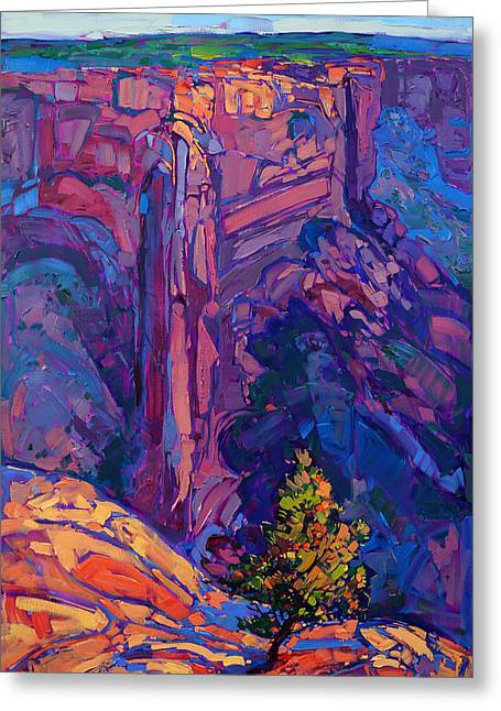 Erin Greeting Cards - Canyon Deep Greeting Card by Erin Hanson