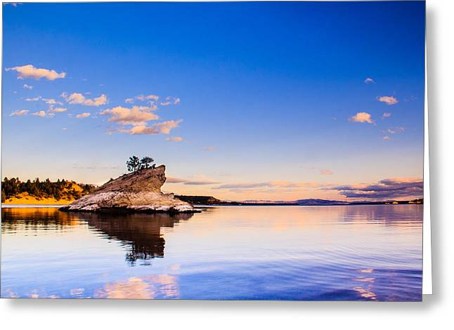 Canyon Ferry Lake Greeting Cards - Canyon Ferry Island Greeting Card by Daniel Wilde