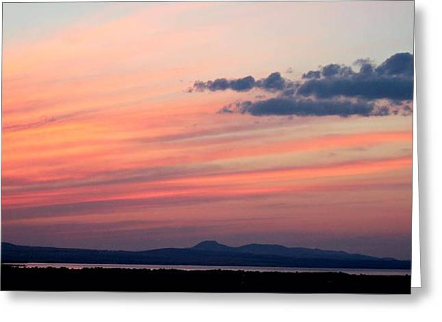 Canyon Ferry Lake Greeting Cards - Canyon Ferry Sunset Greeting Card by Corrie Knerr