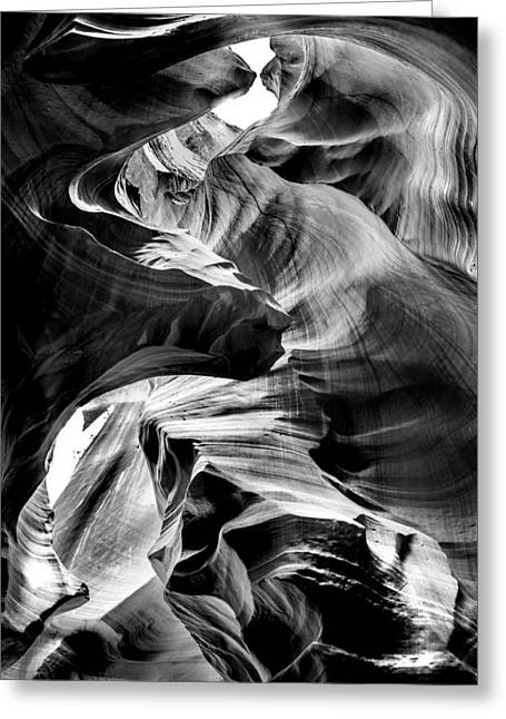 Slot Canyon Greeting Cards - Canyon Flow Greeting Card by Az Jackson
