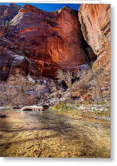 Ocularperceptions Greeting Cards - Canyon Glow Greeting Card by Christopher Holmes