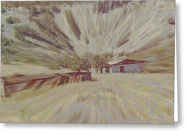 Award Winning Art Mixed Media Greeting Cards - Canyon House Greeting Card by Dennis Buckman