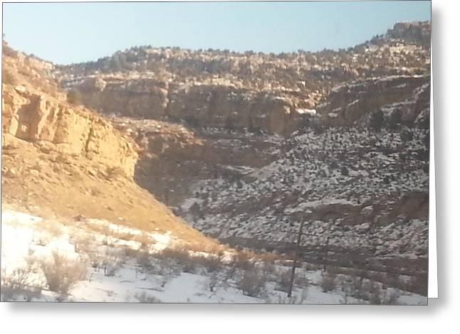Mountain Valley Pyrography Greeting Cards - Canyon Greeting Card by Julia  wedderburn