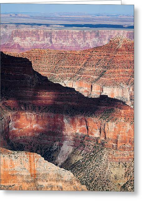 North Rim Greeting Cards - Canyon Layers Greeting Card by Dave Bowman