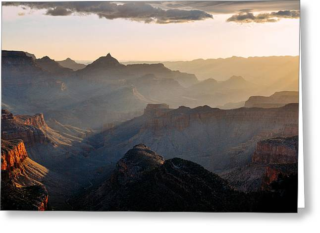 Jeka World Photography Greeting Cards - Canyon Light Greeting Card by Jeff Rose