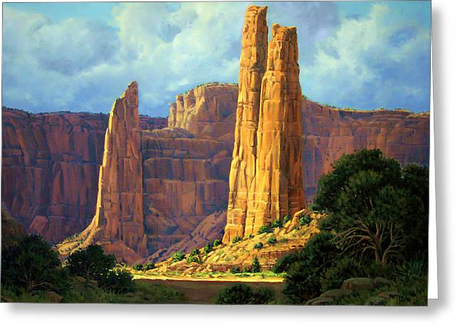 4 Corners Greeting Cards - Canyon Light Greeting Card by Randy Follis