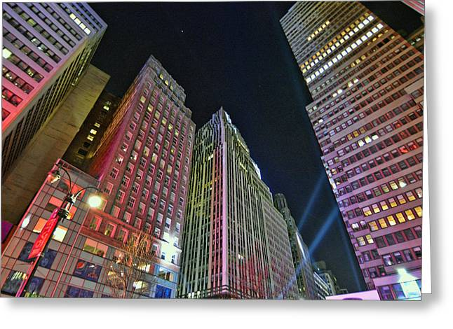 City Lights Greeting Cards - Canyon of New York Greeting Card by Jeffrey Friedkin