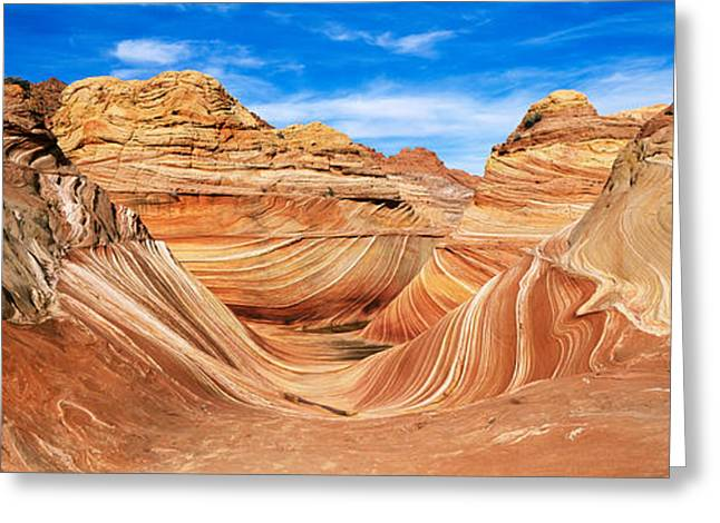 Geology Photographs Greeting Cards - Canyon On A Landscape, Vermillion Greeting Card by Panoramic Images