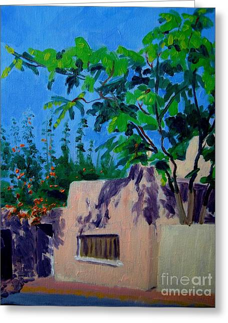 Firenza Greeting Cards - Canyon Road and Escondido Greeting Card by Katrina West