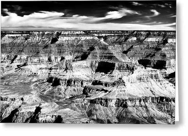The Grand Canyon Greeting Cards - Canyon Shadows Greeting Card by John Rizzuto