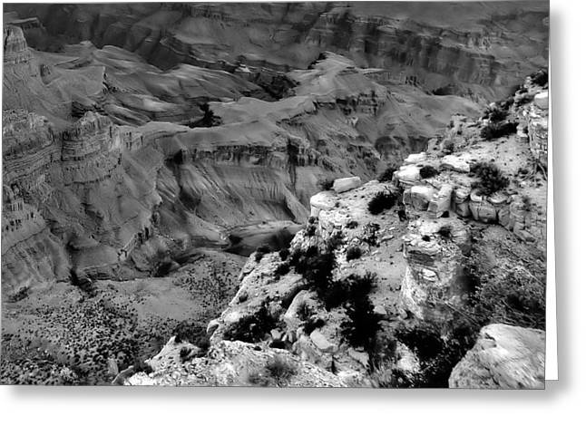 Layered Rock Greeting Cards - Canyon Slide Greeting Card by Dan Sproul