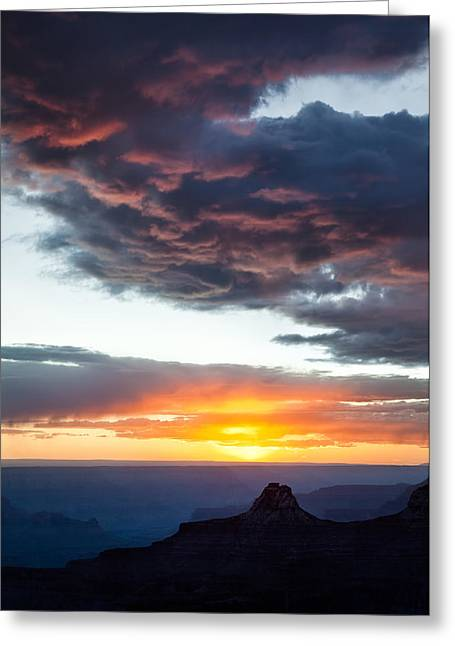 North Rim Greeting Cards - Canyon Sunset Greeting Card by Dave Bowman