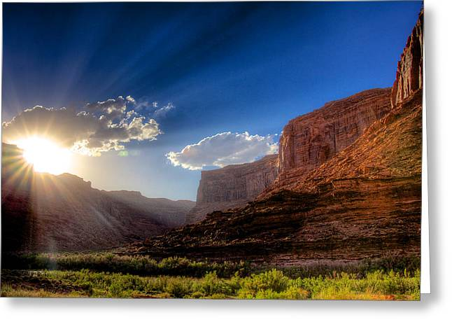 128 Greeting Cards - Canyon Sunset Greeting Card by William Wetmore
