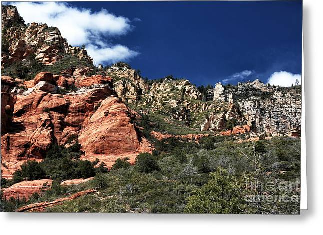 Oak Creek Canyon Greeting Cards - Canyon View Greeting Card by John Rizzuto