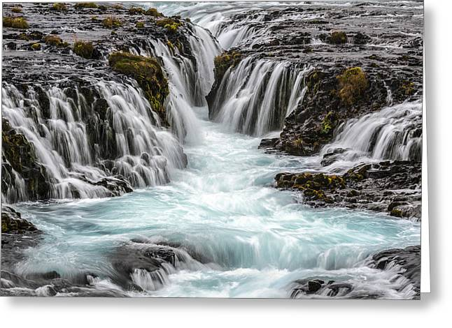 Turquois Greeting Cards - Canyon Waters Greeting Card by Jon Glaser