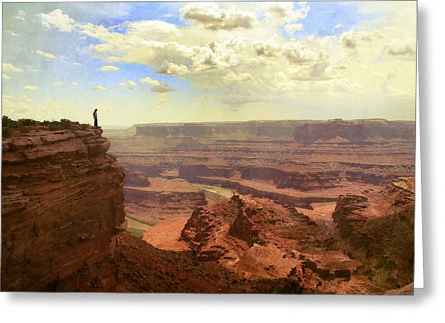 .freedom Mixed Media Greeting Cards - Canyon Greeting Card by Wojciech Zwolinski