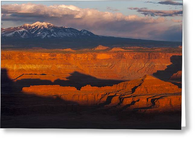 Photo Southern Greeting Cards - Canyonlands Light Greeting Card by Joseph Rossbach
