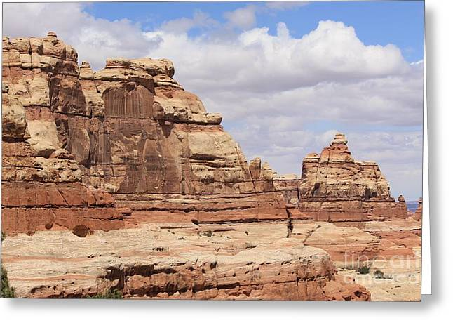 Slickrock Greeting Cards - Canyonlands Scenery Greeting Card by Tonya Hance