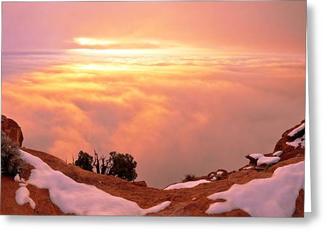 Cliffs Photographs Greeting Cards - Canyonlands Winter Greeting Card by Chad Dutson