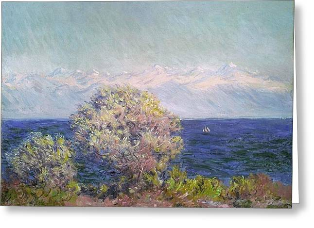 Old Masters Greeting Cards - Cap dAntibes Greeting Card by Claude Monet
