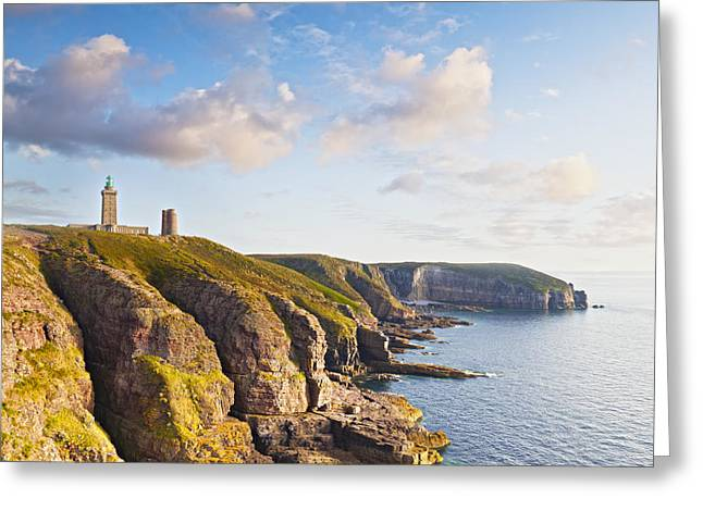 Brittany Greeting Cards - Cap Frehel Brittany France Square Greeting Card by Colin and Linda McKie