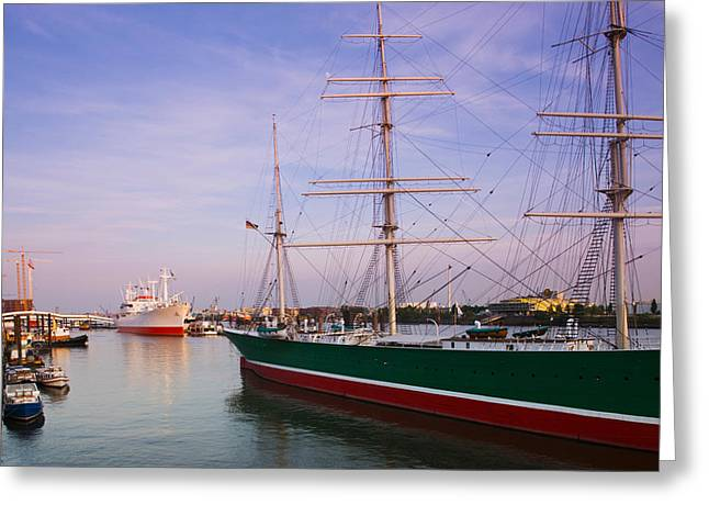Masts Greeting Cards - Cap San Diego And Rickmer Rickmers Greeting Card by Panoramic Images