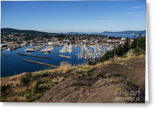Haybale Greeting Cards - Cap  Sante Marina Greeting Card by Robert Bales