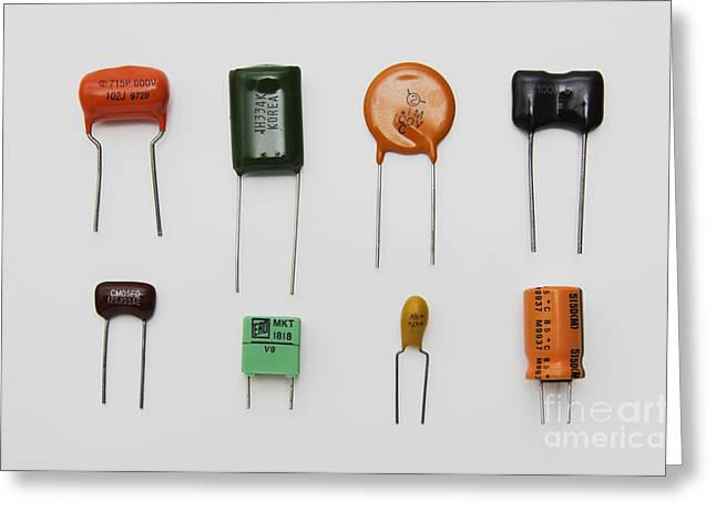 Capacitors Greeting Cards - Capacitors Greeting Card by GIPhotoStock